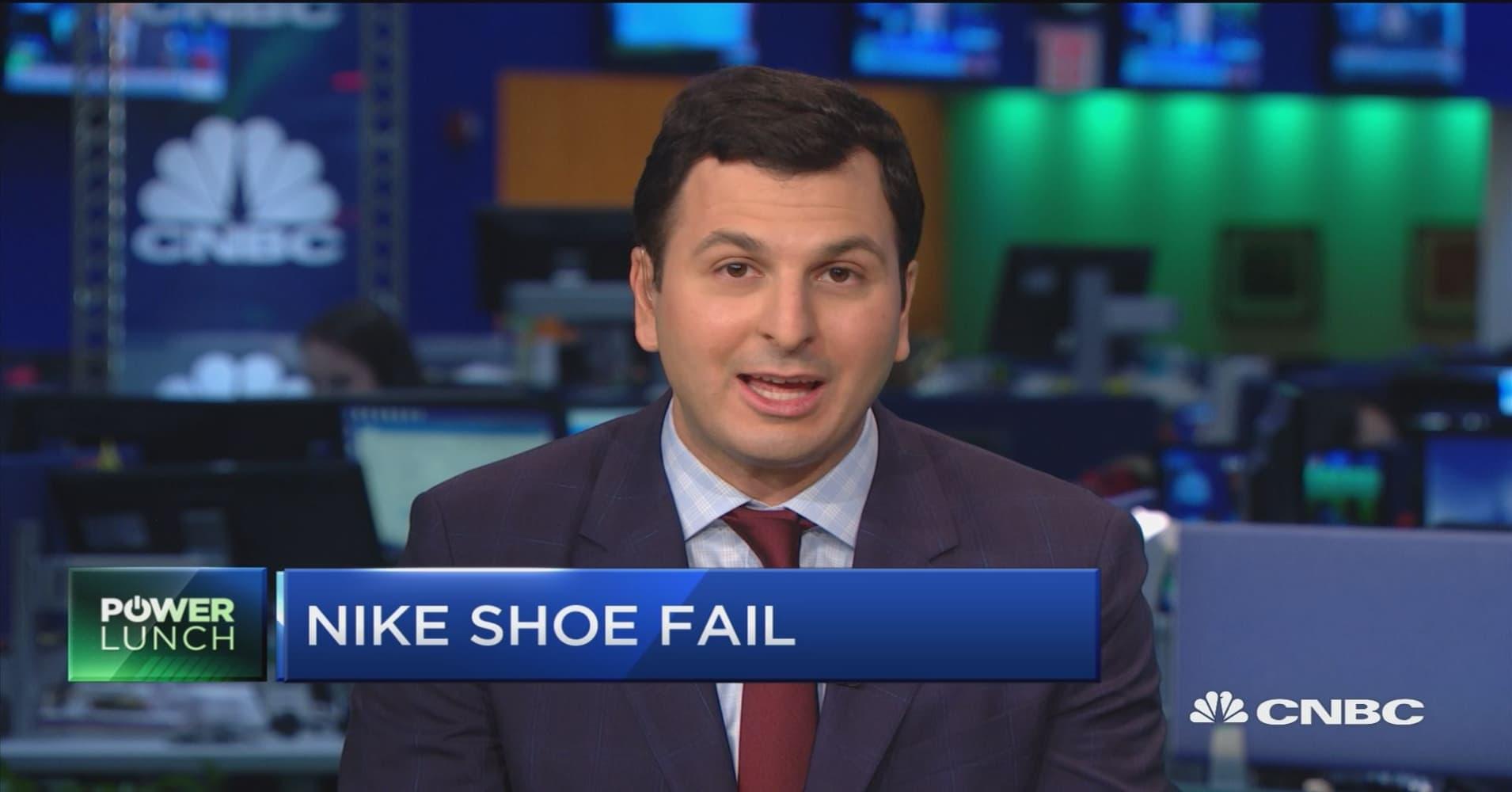 c5237ec1285 Nike shares down after Zion Williamson s shoe breaks
