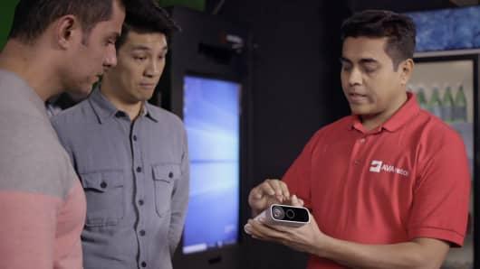 Microsoft's Azure Kinect device.
