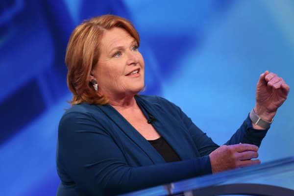 Former Sen. Heidi Heitkamp.