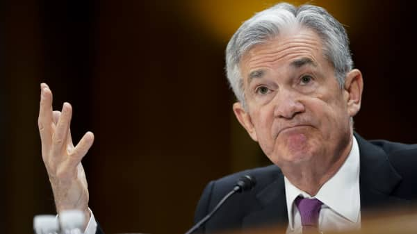 Federal Reserve Chairman Jerome Powell delivers the Federal Reserves Semiannual Monetary Policy Report to the Senate Banking Committee on February 26, 2019 in Washington, DC.
