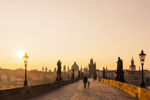 Sunrise at Charles Bridge, Prague, Czech Republic
