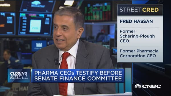 Congressional pharma hearing was more of the same, says former CEO