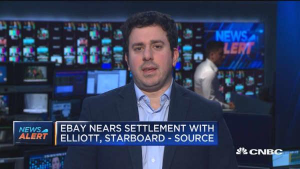 eBay nears settlement with Elliott, Starboard