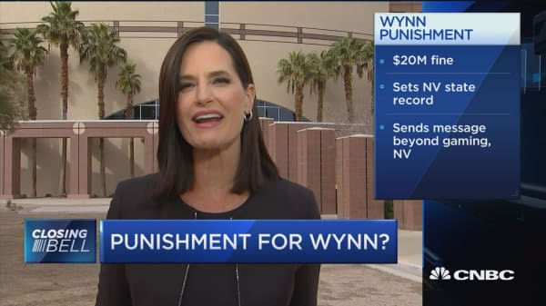 Wynn hit with historic fine over sexual harassment claims at company