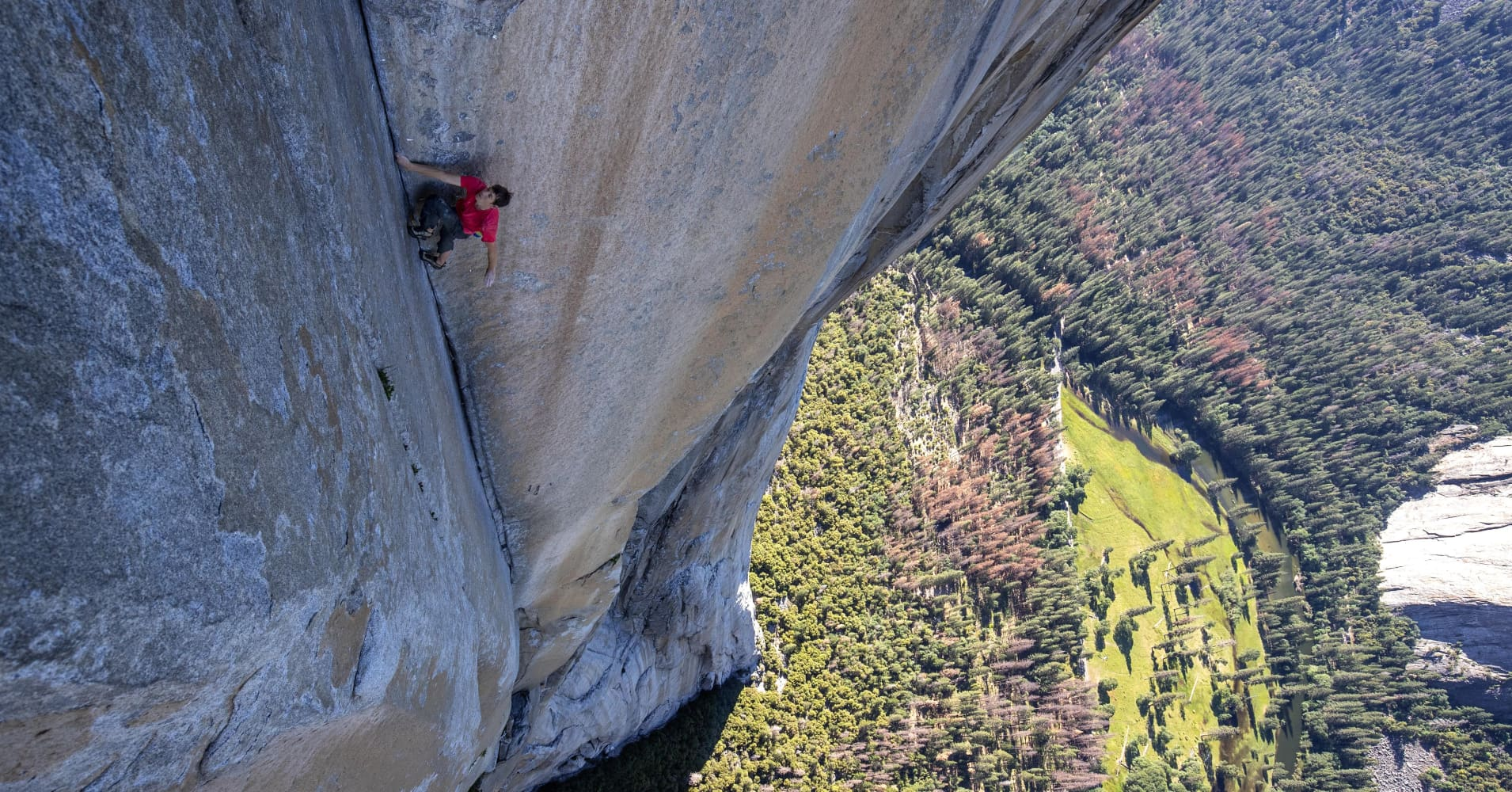 Alex Honnold ascends El Capitan in Yosemite Valley in 2019's Oscar-winning documentary film 'Free Solo.'