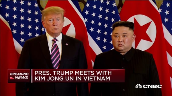 President Trump meets with Kim Jong Un in Vietnam
