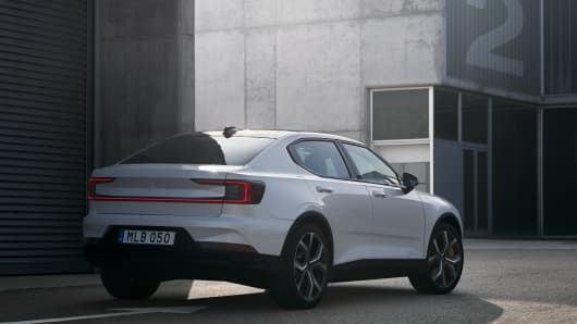 The Polestar 2 electric performance car from Volvo