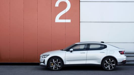 The Polestar 2 electric performance car