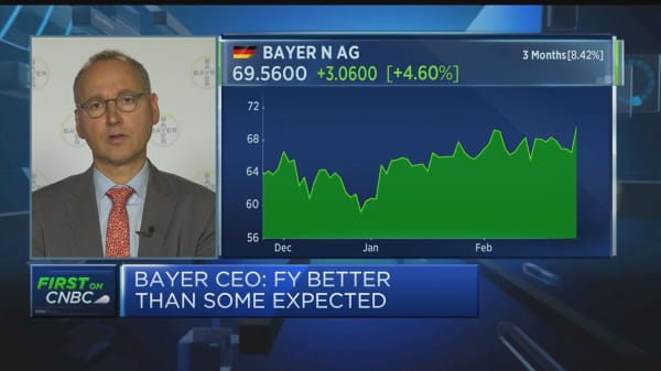 Bayer CEO says company is confident about growth in 2019