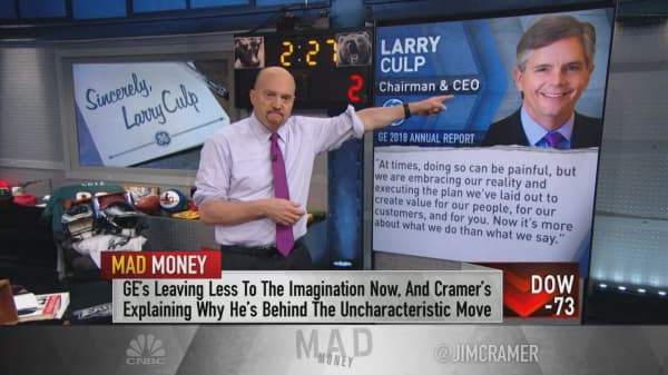 GE CEO Larry Culp could turn troubled power division around: Cramer