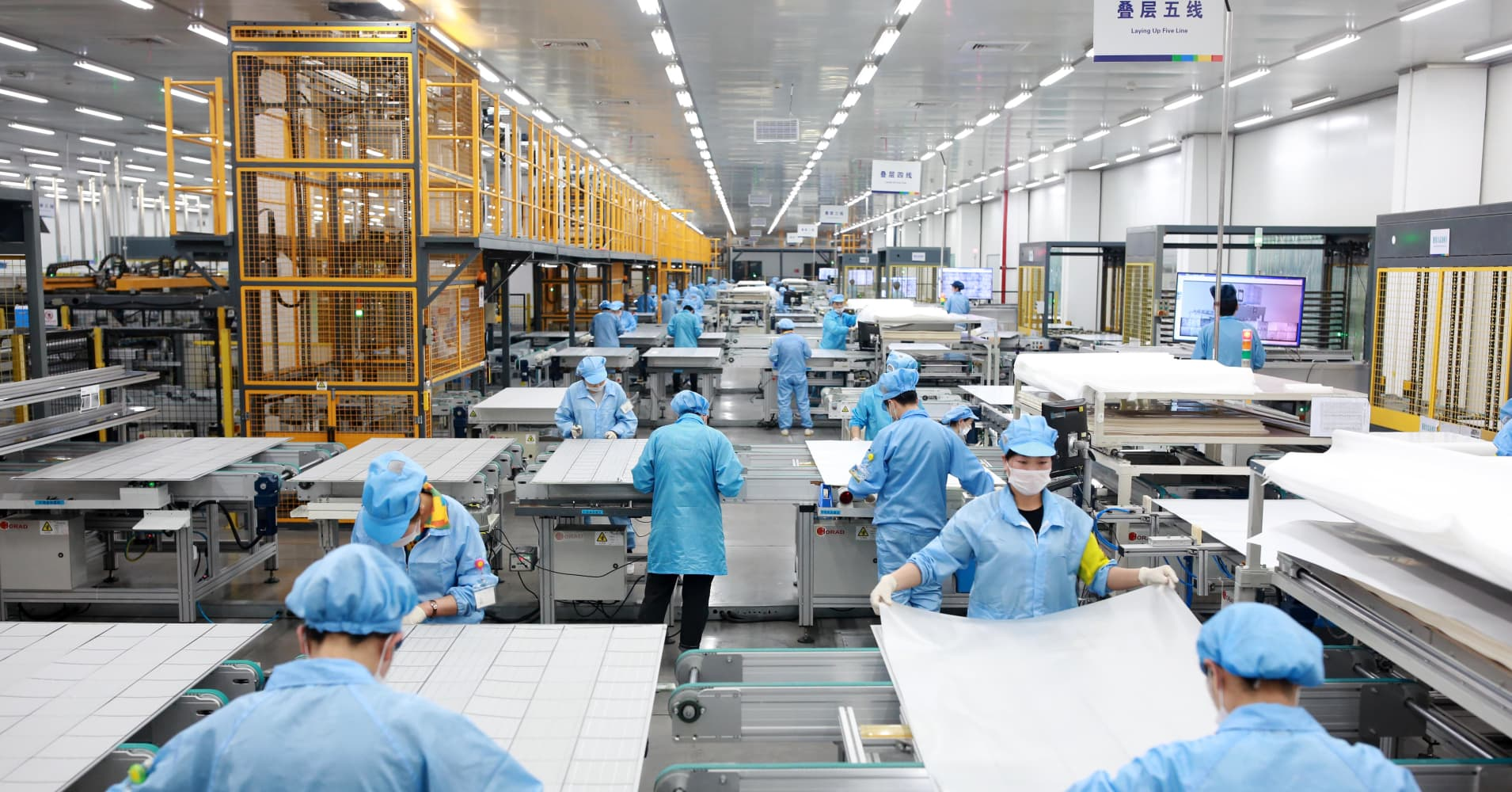 China factory activity shrinks to 3-year low in February, export orders worst in a decade