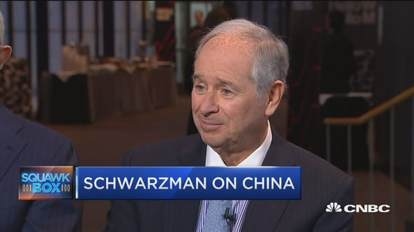 Blackstone's Steve Schwarzman on China: North Korea talks will not have a major effect