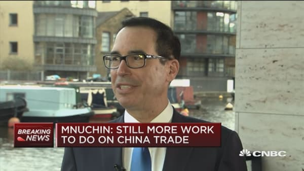 Mnuchin: Tax refunds up 17 percent week over week