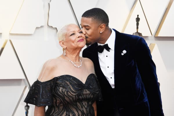 Donna Jordan and Michael B. Jordan attend the 91st Annual Academy Awards on February 24, 2019 in Hollywood, California.