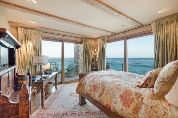 The ocean view from one of Il Pelicano's three guest bedrooms.