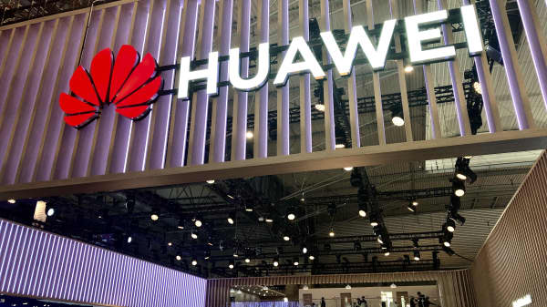 One of Huawei's booths at MWC Barcelona 2019.
