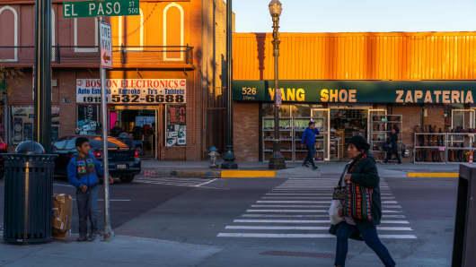A street scene in in El Paso, Texas, on November 28, 2018.