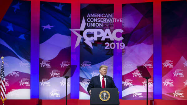 President Trump bashes Fed Chair Powell at CPAC
