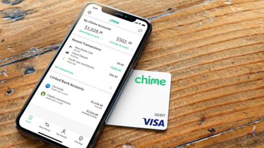 Chime app on smartphone