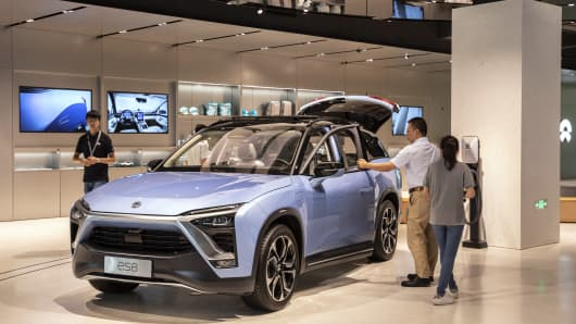 Inside Chinese Electric-Car Maker NIO Inc.'s Shanghai Showroom
