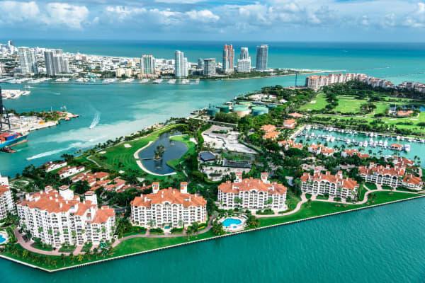 Miami's Fisher Island.