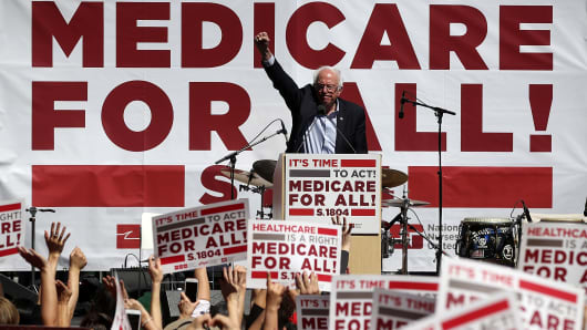 U.S. Sen. Bernie Sanders (I-VT) speaks during a health care rally at the 2017 Convention of the California Nurses Association/National Nurses Organizing Committee on September 22, 2017 in San Francisco, California. Sen. Bernie Sanders addressed the California Nurses Association about his Medicare for All Act of 2017 bill.