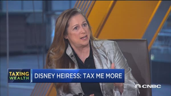 The US must make structural changes by taxing the wealthy, says Disney Heiress