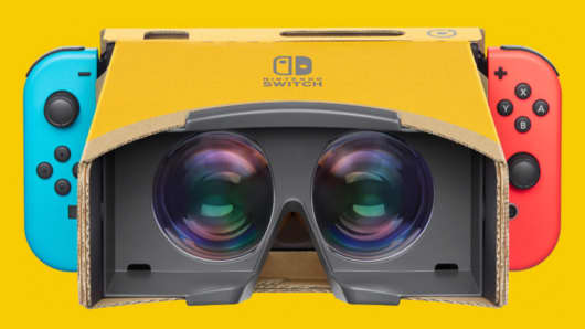 Nintendo just unveiled an $80 cardboard VR headset for the Switch console