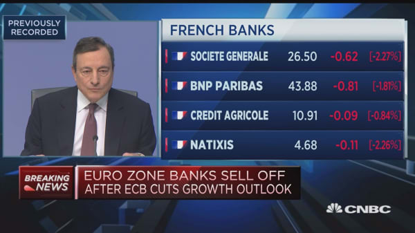 We're determined to act when necessary, ECB's Draghi says