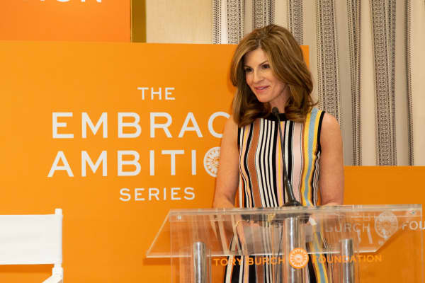 Jennifer Morgan, co-president of global customer operations for SAP, at the Tory Burch Foundation's 2019 Embrace Ambition event in Philadelphia.