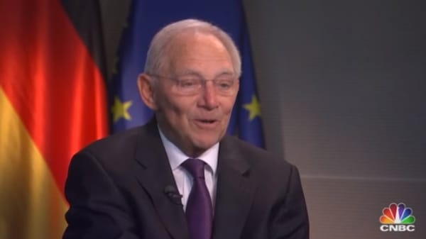 Watch CNBC's full interview with former German Finance Minister Wolfgang Schaeuble