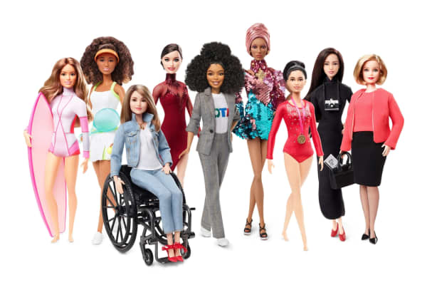 Barbie has made doll versions of some high-profile women for International Women's Day 2019