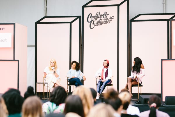 A Create & Cultivate conference held on Microsoft's campus in Seattle in September 2017