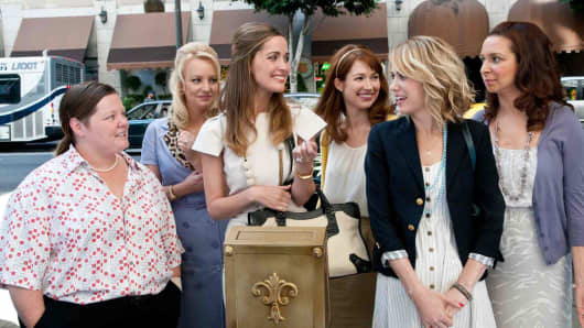 "A still from the movie ""Bridesmaids."""