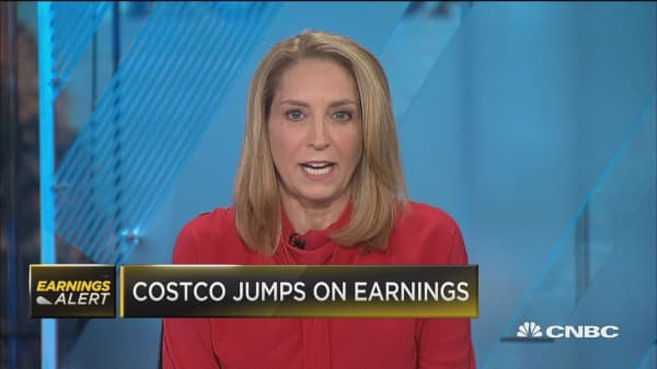 Shares of Costco rise on earnings, Kroger crushed