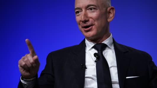 Amazon CEO Jeff Bezos, founder of space venture Blue Origin and owner of The Washington Post.