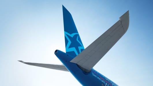 An Air Transat airplane, courtesy photo