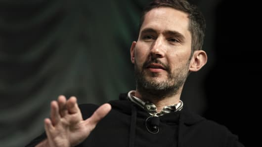 Kevin Systrom, co-founder of Instagram, speaks during a panel discussion at the South By Southwest (SXSW) conference in Austin, Texas, U.S., on Monday, March 11, 2019.