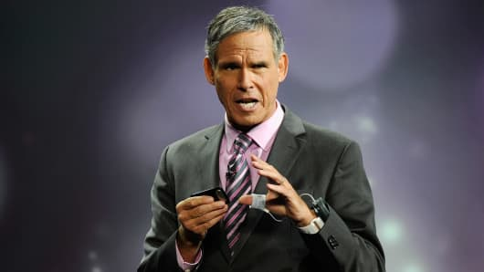 Chief Academic Officer, Scripps Health, cardiologist Dr. Eric Topol speaks during a presentation by Qualcomm at the 2012 International Consumer Electronics Show at The Venetian on January 10, 2012 in Las Vegas, Nevada.