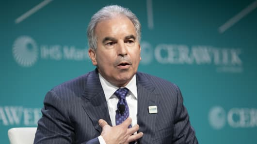 Jack Fusco, president and chief executive officer of Cheniere Energy Partners LP, speaks during the 2019 CERAWeek by IHS Markit conference in Houston, Texas, U.S., on Monday, March 11, 2019.