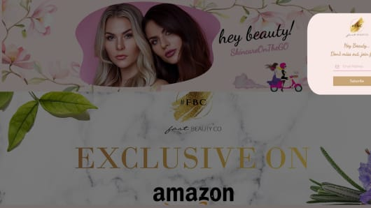 A new beauty line sold exclusively on Amazon
