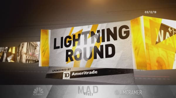 Cramer's lightning round: We are recommending this speculative stock