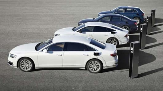 Audi's plug-in hybrid electric vehicles lineup
