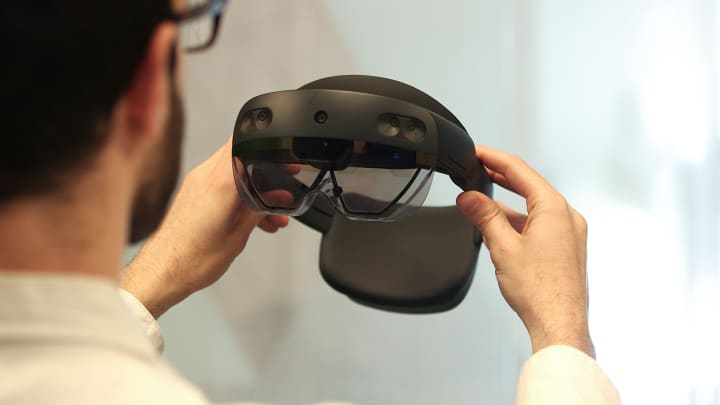 Microsoft's new HoloLens 2 augmented reality headset