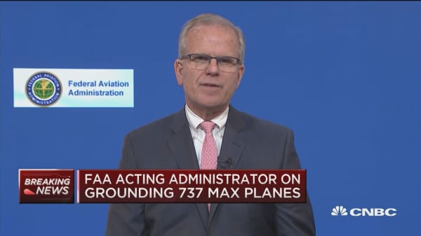 Watch CNBC's full interview with FAA Acting Administrator Daniel Elwell