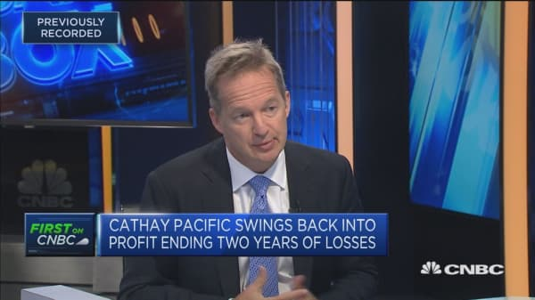 Cathay chief: We're trending in the 'right direction'