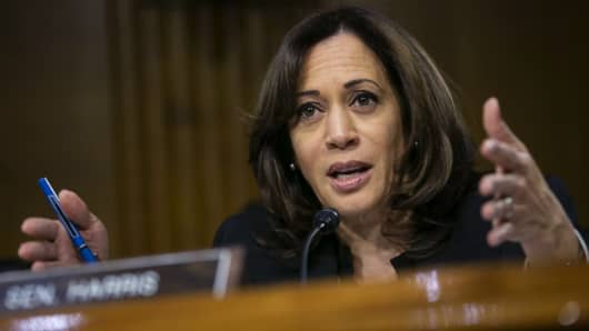 Image result for Kamala Harris showed her 15 years of her tax returns