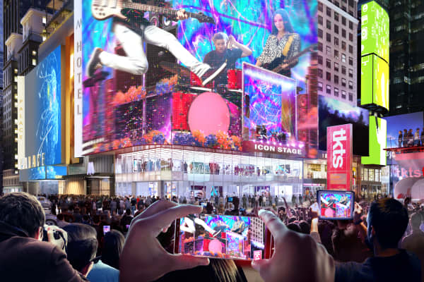 TSX Broadway, a new development in Times Square, will have a built-in stage