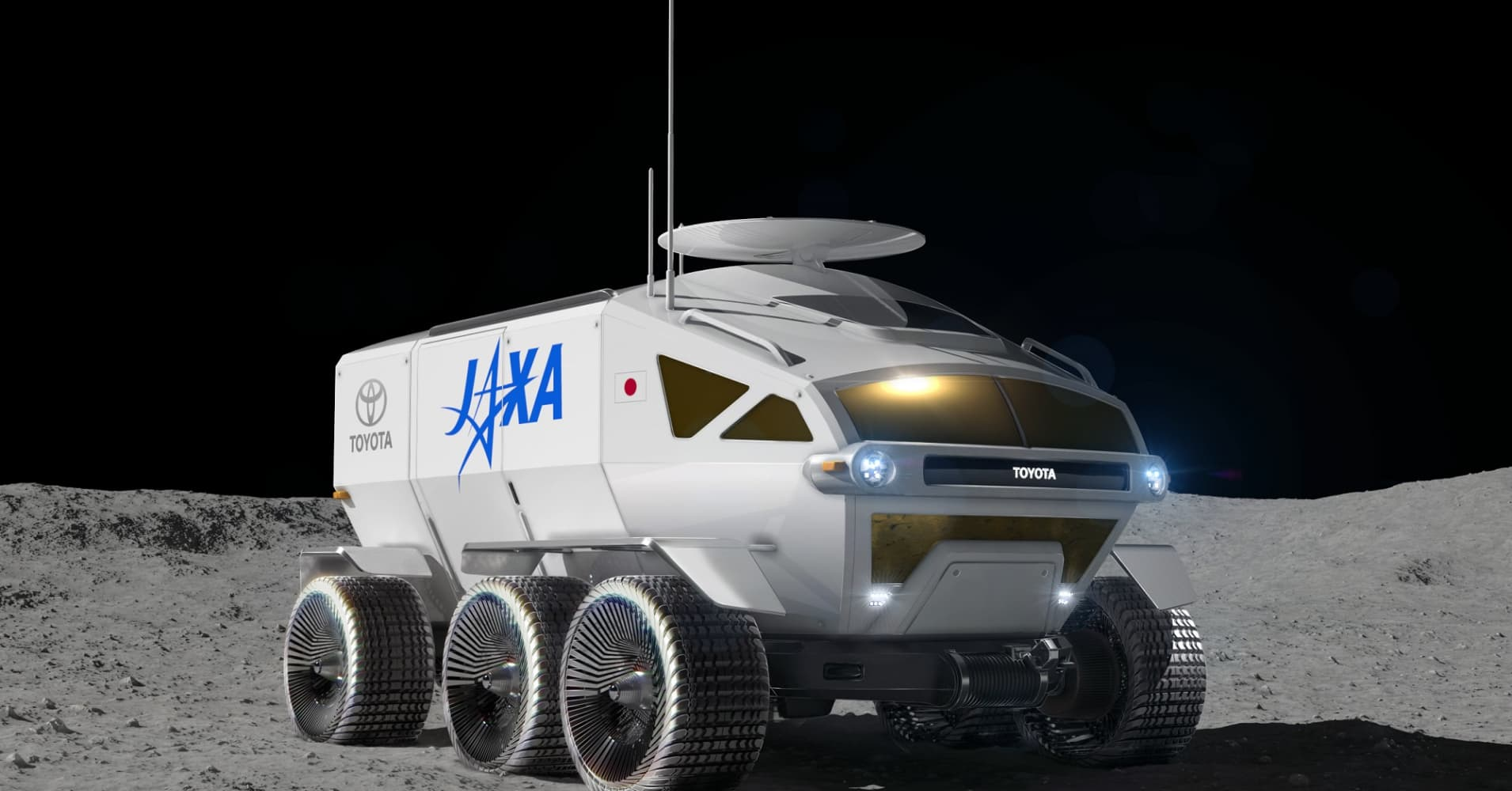 A concept image of the planned Toyota lunar rover.