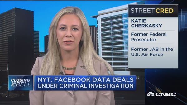 Facebook tempting fate with data deals, says former federal prosecutor